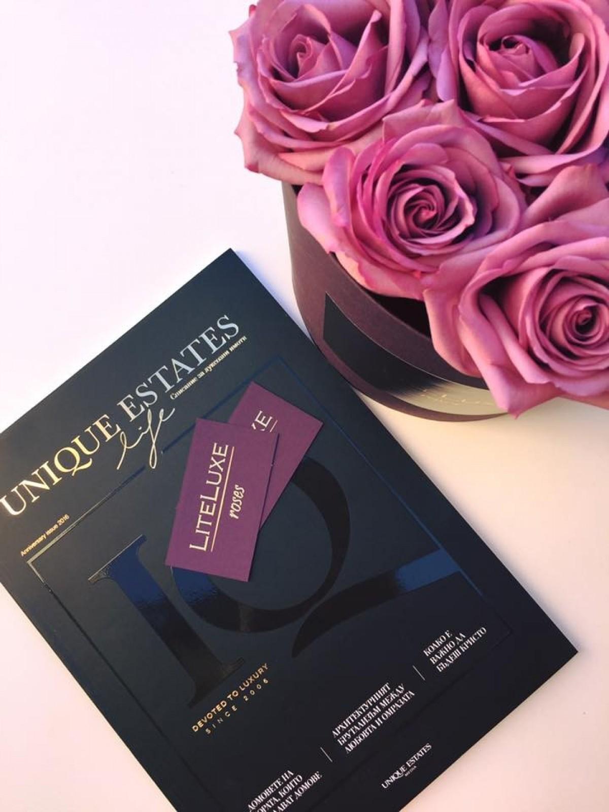 Семплият лукс - рози в кутия