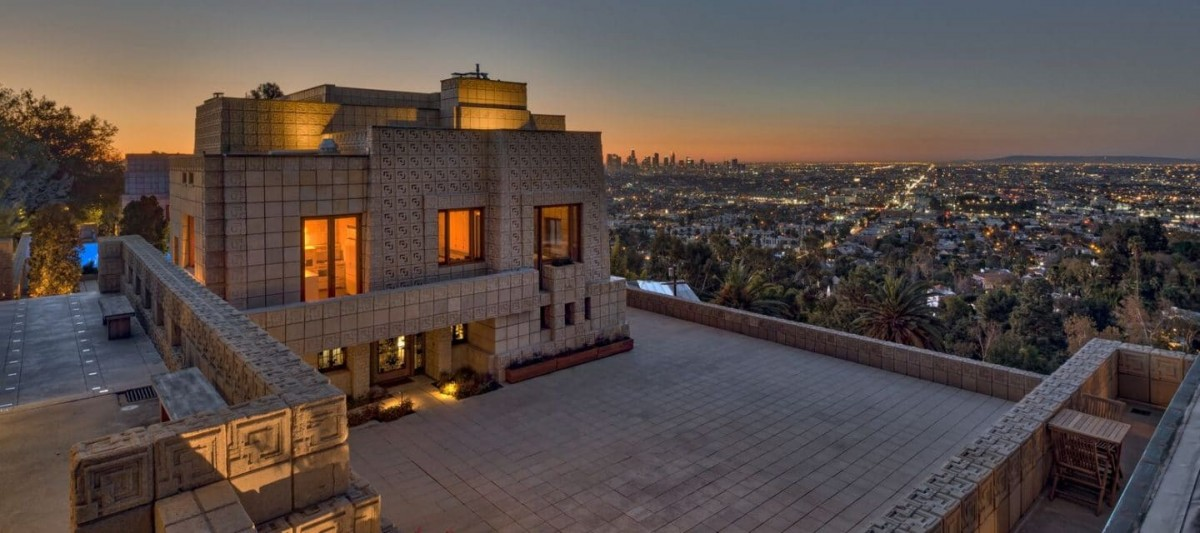 """Frank Lloyd Wright's """"Ennis House"""" is on the market"""