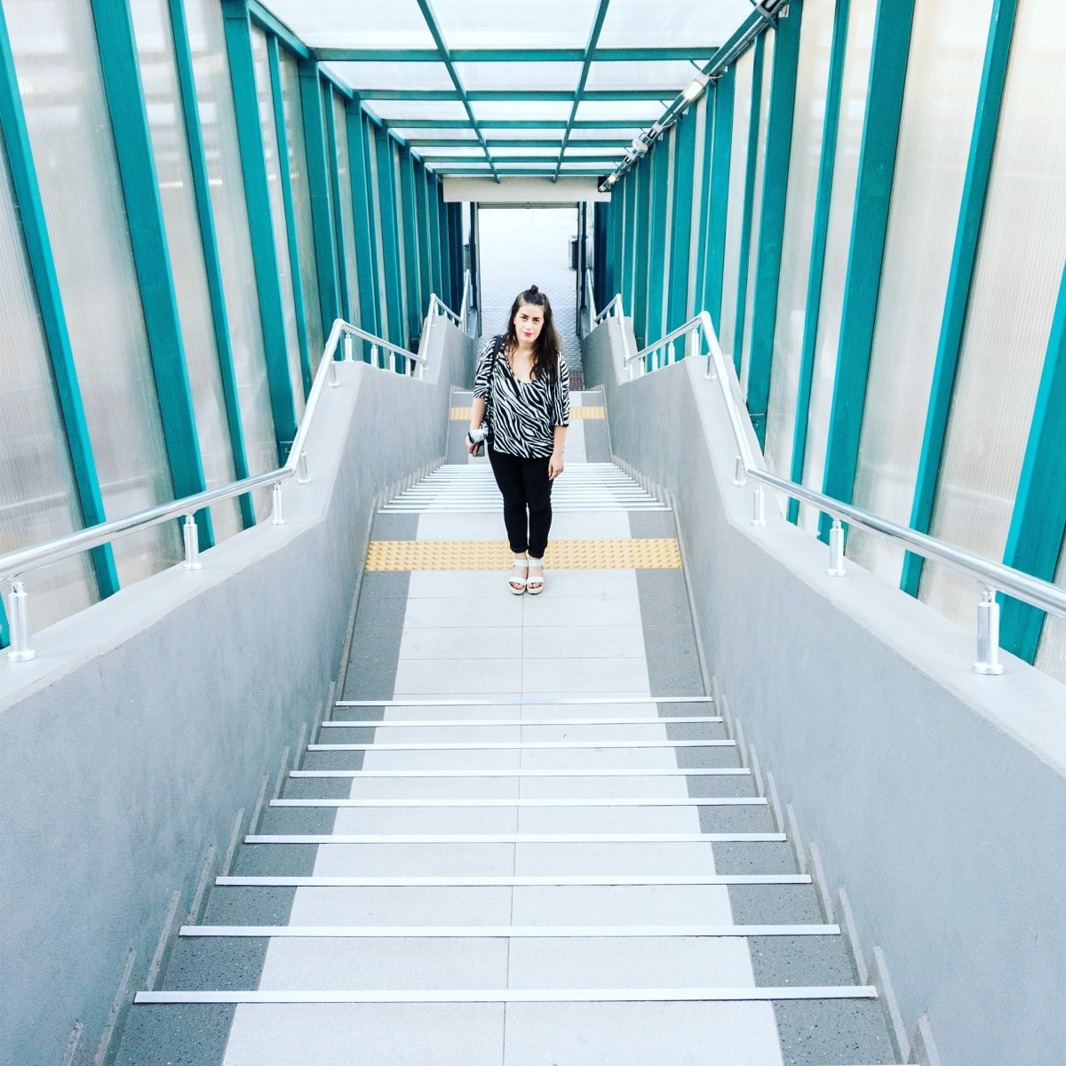 The Girl and the Beauty of Industrial Buildings