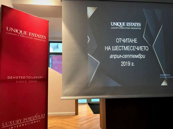 Unique Estates reported its results for the past six months and awarded the team
