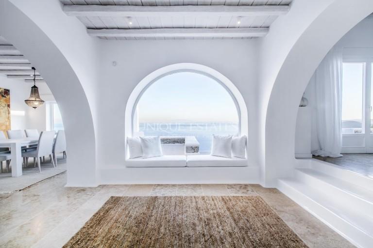 Уникална резиденция под наем, в затворен комплекс на остров Миконос