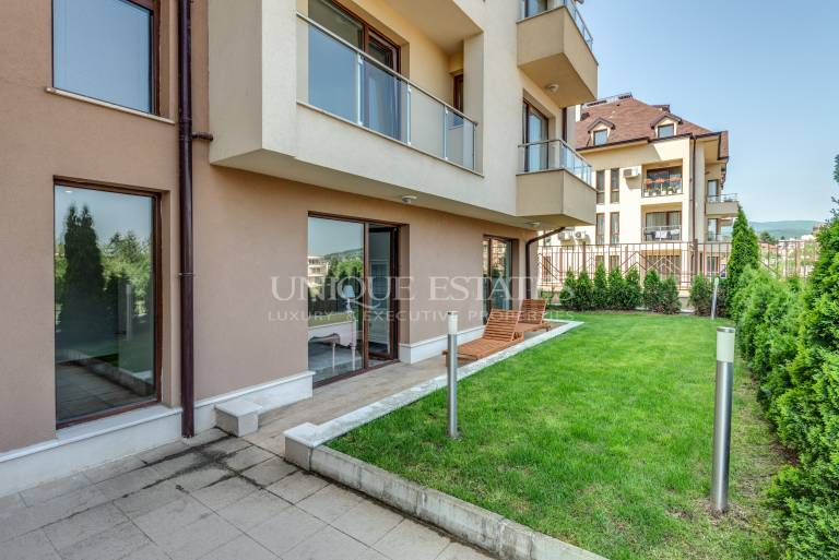 Brand new apartment with private garden for sale in Boyana