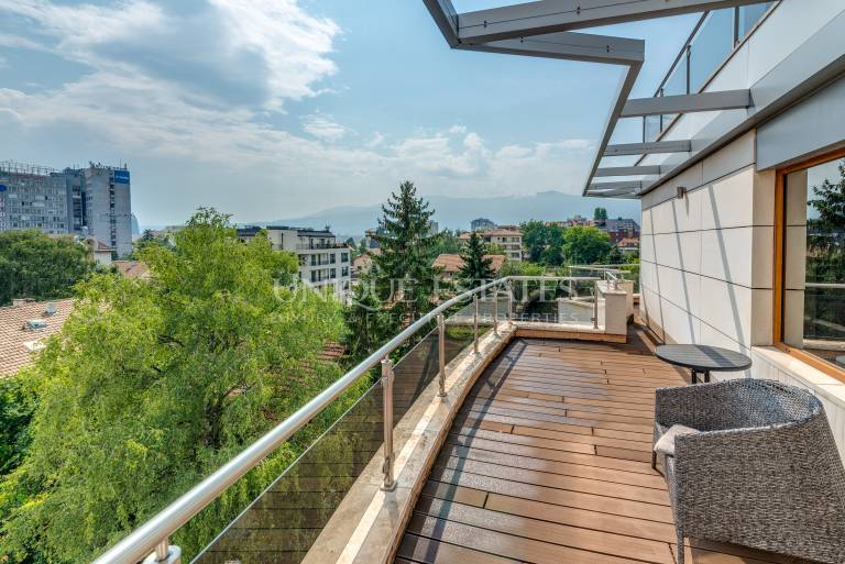 """Unique penthouse for rent in """"Iztok"""" with roof terrace"""