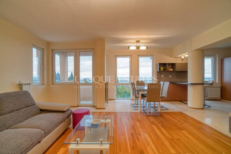 Spacious apartment with beautiful views for rent in Boyana