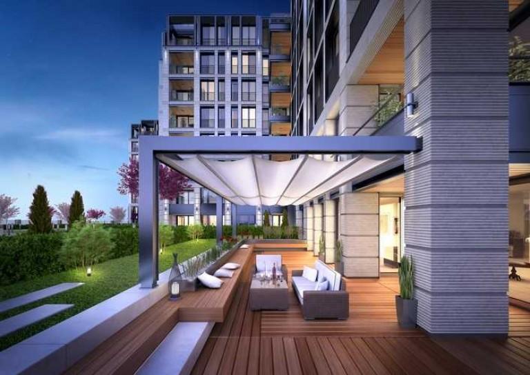 Модерният градски комплекс сред простор и зеленина